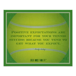 Tennis Ball and Quote 016 Poster