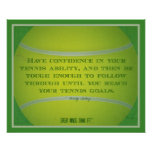 Tennis Ball and Quote 017 Print