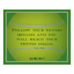 Tennis Ball and Quote 018 Posters