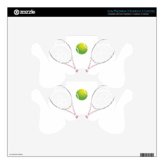 Tennis Ball and Racket2 PS3 Controller Decals