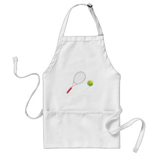 Tennis Ball and Racket Adult Apron