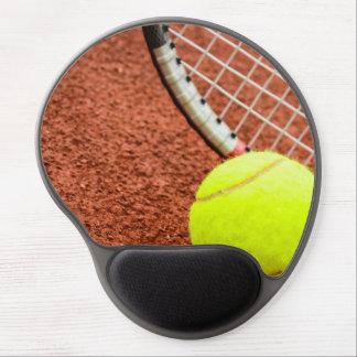 Tennis Ball and Racket Closeup Gel Mouse Pad