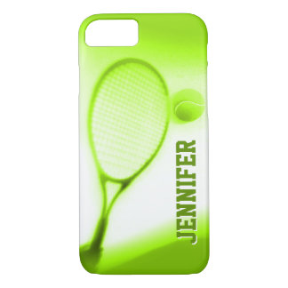 Tennis ball and racket sports green iPhone 7 case