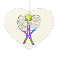 Tennis Ball and Rackets Car Air Freshener