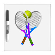 Tennis Ball and Rackets Dry-Erase Board