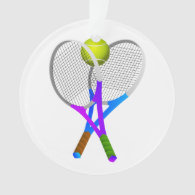 Tennis Ball and Rackets Ornament