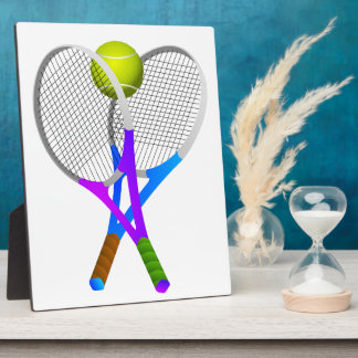 Tennis Ball and Rackets Photo Plaques