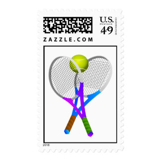 Tennis Ball and Rackets Postage