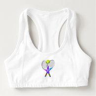 Tennis Ball and Rackets Sports Bra