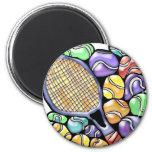 Tennis Ball and Racquet Magnet