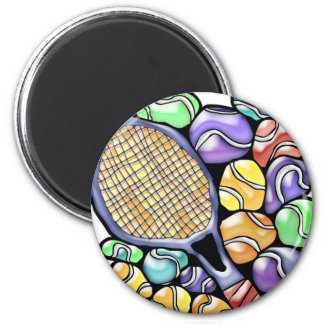 Tennis Ball and Racquet Magnet
