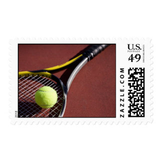 Tennis Ball and Racquet Postage Stamps