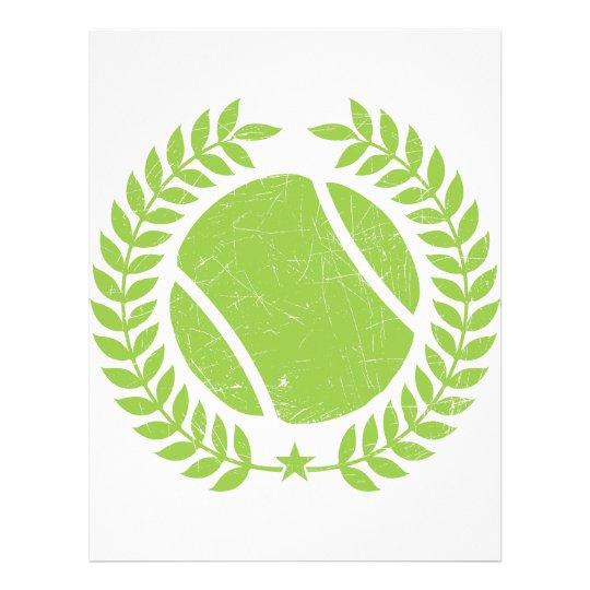 Tennis Ball and tennis Team Vintage design Letterhead