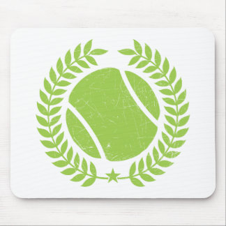 Tennis Ball and tennis Team Vintage design Mouse Pad