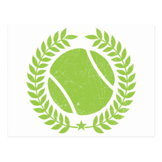 Tennis Ball and tennis Team Vintage design Post Card