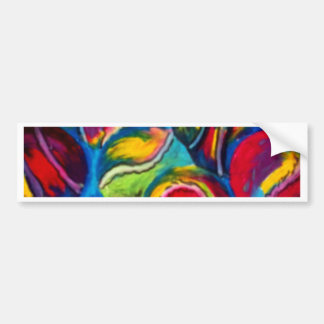 Tennis ball artwork bumper sticker