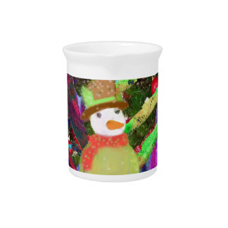 Tennis ball as ornament in Christmas tree Drink Pitcher