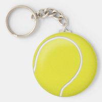Tennis ball ball keychain