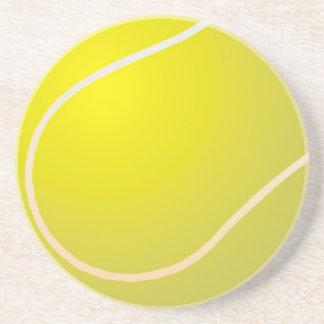 Tennis ball beverage coaster