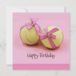 Tennis ball birthday card with tennis ball
