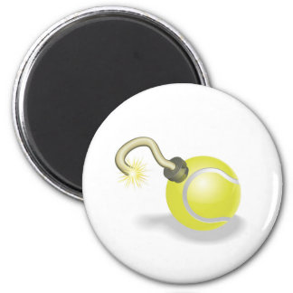 Tennis ball bomb concept magnet