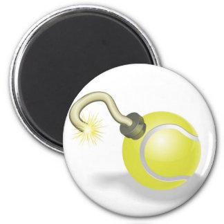 Tennis ball bomb concept fridge magnet