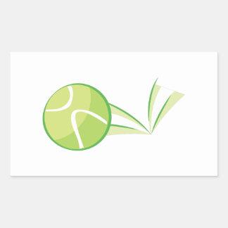 Tennis Ball Bounce Rectangular Sticker