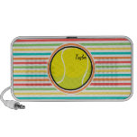 Tennis Ball; Bright Rainbow Stripes Portable Speaker