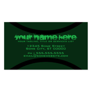 tennis ball Double-Sided standard business cards (Pack of 100)