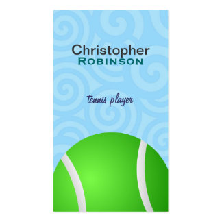 Tennis Ball Business cards