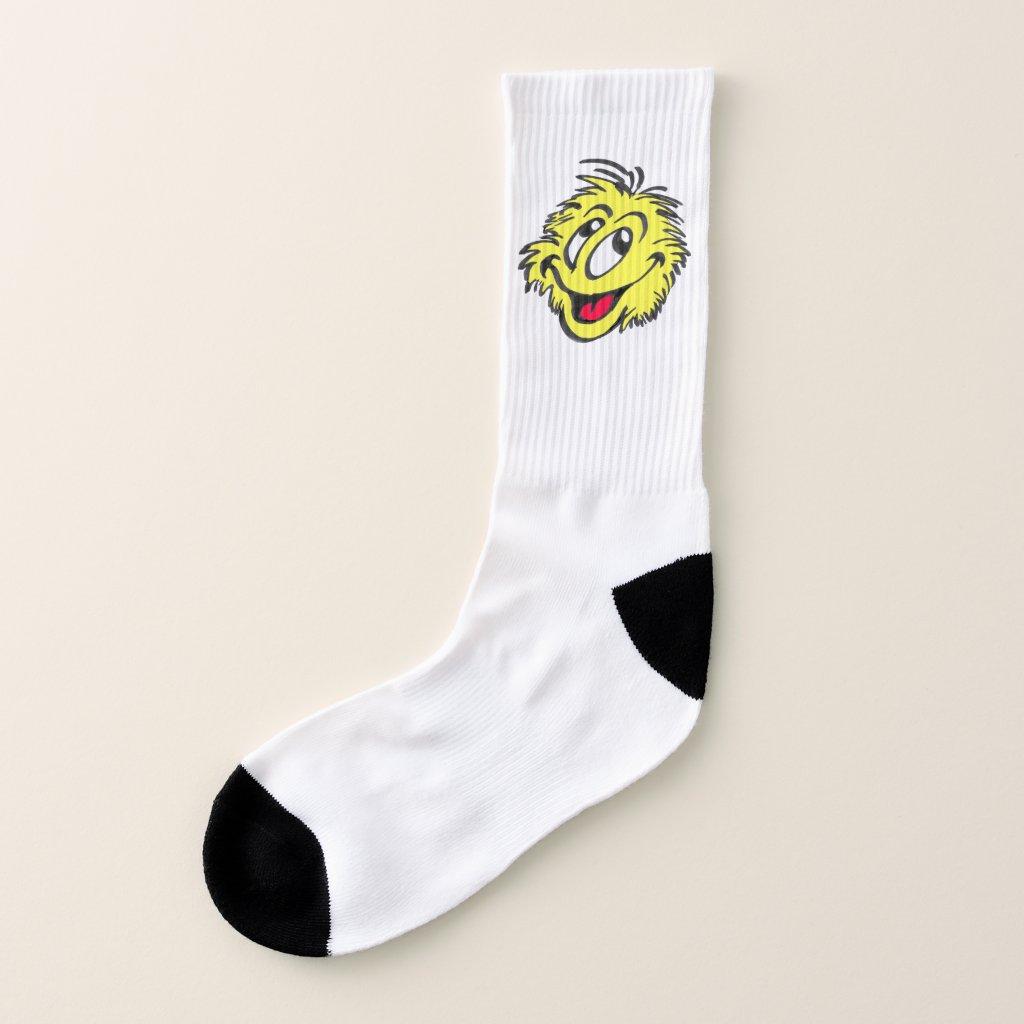 Tennis Ball Cartoon Socks