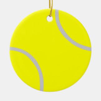Tennis Ball Ceramic Ornament