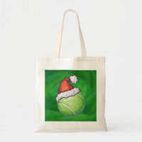 Tennis Ball Christmas Green Tote Bag