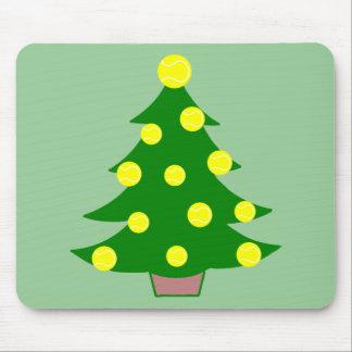 Tennis Ball Christmas Tree Mouse Pad