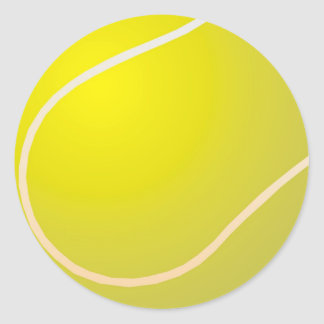 Tennis ball classic round sticker