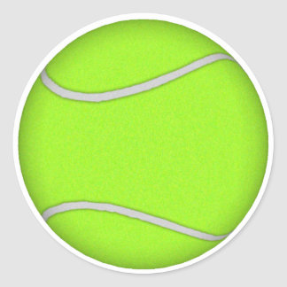 Tennis Ball: Classic Round Sticker
