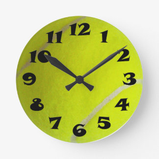 Tennis Ball Round Wall Clocks
