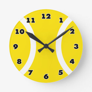 Tennis ball clock for on the wall