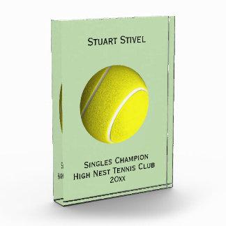 Tennis Ball Crystal Trophy 4 Lines Award