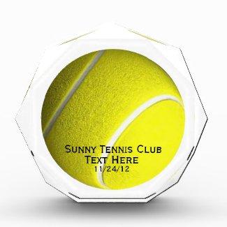 Tennis Ball Crystal Trophy Award