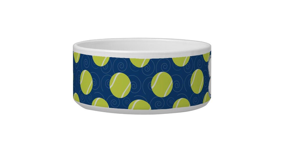 Tennis Ball In Dog Food Bowl