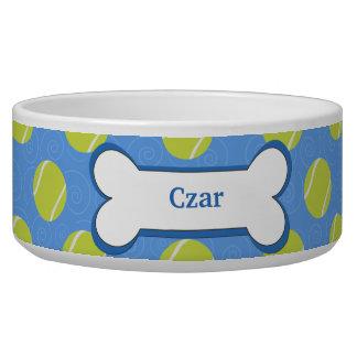 Tennis Ball Customized Pet Dog Food Bowl - Blue