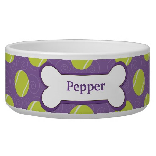 Purple Dog Food Bowl