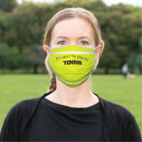 Tennis Ball Design Face Mask