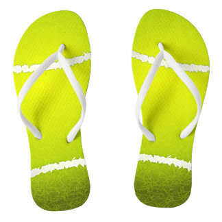 Tennis Ball Design Flip Flops