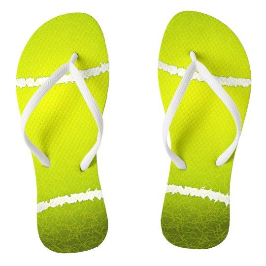 Tennis Ball Design Flip Flops   Zazzle.com