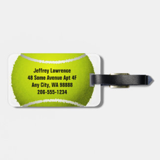 Tennis Ball Design Luggage Tags