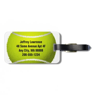 SjasisSportsSpace Tennis Ball Design Luggage Tags