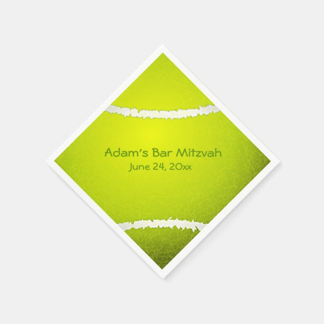 Tennis Ball Design Paper Napkins