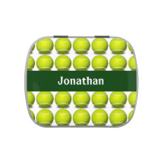 Tennis Ball Design Party Favor Candy Container Candy Tin at Zazzle